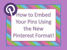 Embedding a Pinterest Pin On Your Blog! ~By www.FernSmithsClassroomIdeas.com