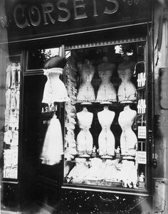 Edwardian corset shop.