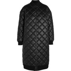 Stella McCartneyMarisa Quilted Faux Leather Jacket (€1.625) ❤ liked on Polyvore featuring outerwear, jackets, black, vegan leather jacket, stella mccartney, long faux leather jacket, synthetic leather jacket and quilted faux leather jacket