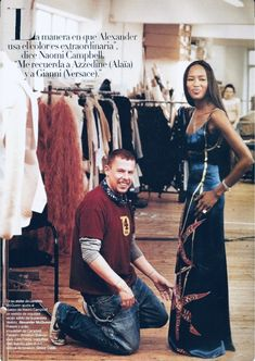 alexander mcqueen f/w naomi campbell and alexander mcqueen in harper's bazaar 200 Naomi Campbell, Azzedine Alaia, Gianni Versace, Alexander Mcqueen Couture, Alexander The Great, British Style, My Idol, Style Icons, Editorial Fashion