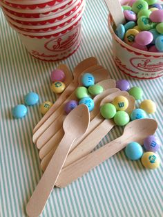 100 Mini wooden ice cream spoons by papertreats on Etsy, $7.95