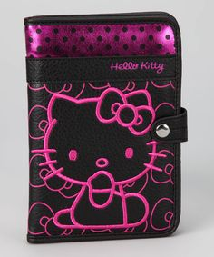 Black Polka Dot Hello Kitty Passport Case   Daily deals for moms, babies and kids