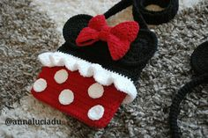 Crochet Minnie mouse crochet bags crochet by Emmacrochetdesign4U