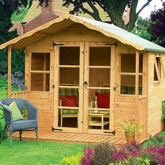 ... garden sheds/summer houses could be nice get away or nice enclosure for a hot tub!