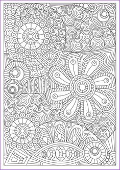 Zentangle art Coloring page 19 for adult, PDF printable, tangle inspired. Abstract Coloring Pages, Pattern Coloring Pages, Flower Coloring Pages, Mandala Coloring Pages, Coloring Pages To Print, Coloring Book Pages, Coloring Pages For Kids, Coloring Sheets, Free Adult Coloring