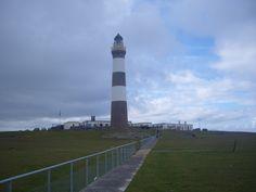 Scottish Islands - New Lighthouse, Isle of North Ronaldsay, Orkney Islands