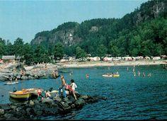 Telemark fylke Bamble kommune Rognstranda Camping 1980-tallet