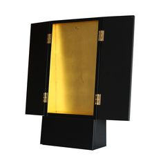 CASCADA: Slender triangle-shaped cross section - perhaps the most sleek butsudan design possible. Example shown has 22ct gold interior. Storage area at the base. 60cm tall, 28cm wide, 12cm deep.