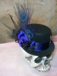 Tarred and Featherd 7 Tiny Top hat by littleorphanawesome on Etsy. I want!!!