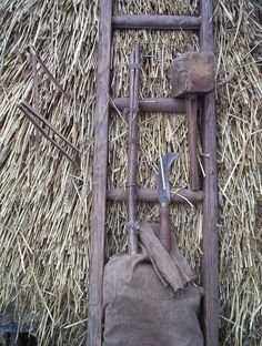 Thatcher's tools | My own thatching tools: Mallet, comb, spar-hook, ladder and knee-pad. Ladder Decor, Traditional, Tools, Crafts, Home Decor, Instruments, Manualidades, Decoration Home, Room Decor