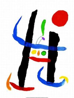 Joan Miro ~Via teaching artist Spanish Painters, Spanish Artists, Joan Miro Pinturas, Abstract Expressionism, Abstract Art, Abstract Landscape, Miro Artist, Joan Miro Paintings, Hieronymus Bosch