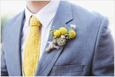 Handmade ties and a billy ball boutonniere! (Sara Lucero)