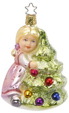 Inge Glas 2012#Christbaumschmuck#aus dem Hause Inge Glas.Weihnachtsbaumschmuck made in Germany mundgeblasen und von Hand bemalt bei www.gartenschaetze-online.de