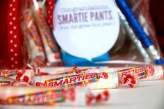 """free """"Smartie Pants"""" printable--great Kindergarten graduation favor for students"""