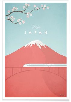 Japan en Affiche premium par Henry Rivers | JUNIQE