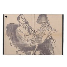 Vintage Dad iPad Air Case--This ironic ad is the perfect way to show dad some love, while protecting his iPad Air. #iPad #Electronics #Dad #Newspaper #Zazzle #Vintage