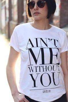 Shirt mit Spruch, 100% Bio-Baumwolle // quote shirt, 100% Bio-cotton via DaWanda.com // 29,99€