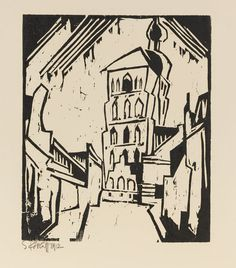 Karl Schmidt-Rottluff - Stralsunder Türme (Towers of Stralsund, Germany)