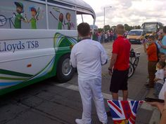Me waiting to carry the Olympic Flame the best time of my life.