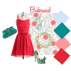 #Bridesmaid Collection # 5 #Poppy Red and #Turquoise