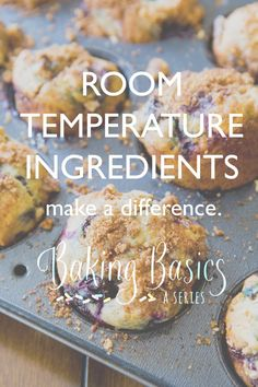 Baking Basics: Room Temperature Ingredients Make a Difference Baking Classes, Baking Supplies, Cooking 101, Cooking Hacks, Baking Basics, Sallys Baking Addiction, Cake Decorating Tips, Diy Food, Food Hacks