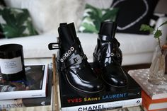 balenciaga buckle boots via fashionsquad.com