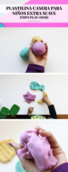 La receta más fácil para hacer plastilina casera tipo Play-Doh (extra suave!) para bebes y niños | Live Colorful