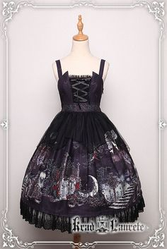 Krad Lanrete +Transilvania moonlight+ Gothic Lolita JSK Version II with Overskirt