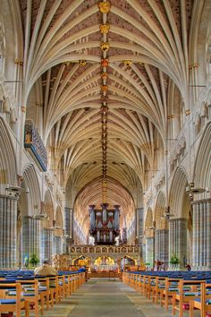 The nave, Exeter Cathedral by Chris Spracklen, via 500px
