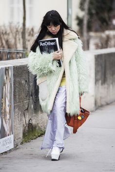 minty fresh fur. Susie in Paris. #SusieLau #StyleBubble