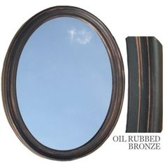 Bathroom Mirror Vanity Oval Framed Wall Oil Rubbed Bronze