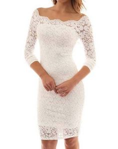 Vestido de Renda Tubinho Ombros de Fora Prom Dresses Long With Sleeves, Lace Party Dresses, Homecoming Dresses, Wedding Dresses, Casual Dresses, Nice Dresses, Girls Dresses, White Lace, White Dress