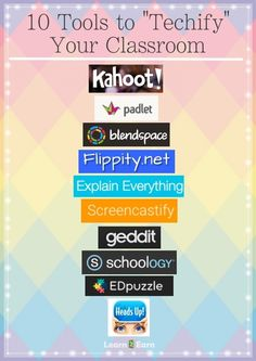 "~Love Kahoot & HeadsUp...Look forward to iPads. It's so much easier. 10 Teacher Tools to ""Techify"" Your Classroom.*"