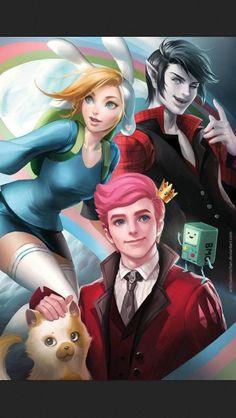 Fiona, Marshall lee, and prince Gumball