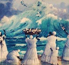 Offerings to Yemanjá, the Yoruba orisha of the sea and fertility African Culture, African Art, Ifa Religion, Yoruba Religion, Yemaya Orisha, Yoruba Orishas, Estilo Tribal, African Goddess, African Mythology