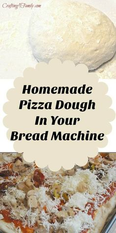 Bread Machine Pizza Dough made quick and easy in your bread machine. Simple fresh ingredients made the way you like your pizza. Bread Machine Pizza Dough made quick and easy in your bread machine. Simple fresh ingredients made the way you like your pizza. Pate A Pizza Kitchenaid, Pizza Dough Bread Machine, Bread Pizza, Pizza Dough Roller, Quick Pizza, Bread Maker Recipes, Pizza Recipes, Homemade Pickles, Easy Bread