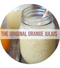 Homemade Orange Julius - http://www.wheelndealmama.com/homemade-orange-julius-copycat-recipe/  | Copycat Recipes For Your Favorite Fast Foods