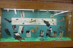 High School Bulletin Boards | March to the library for a good book. I raided our drama costume room ...