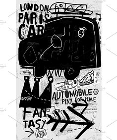 Car car print graffiti packing vintage retro silhouette isolated transportation vector vehicle traffic direction old design style travel imagery symbol competitive
