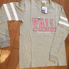 Keepin' it preppy!! Jadelynn Brooke jersey tee- $44.95  #madisonsbluebrick #downtownhotsprings #jadelynnbrooke #preppy