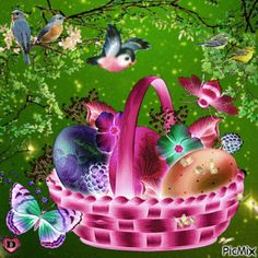 ♡ For you ♡ Easter Greetings Messages, Happy Easter Greetings, Greetings Images, Happy Easter Gif, Easter Bunny, Easter Eggs, Images Wallpaper, Orthodox Easter, Easter Wallpaper