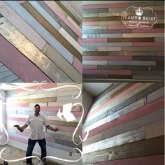 The First Ever Metallic Wood Plank Wall - Traceys Fancy