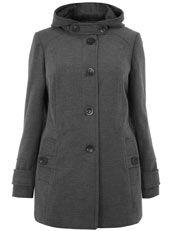 Un beau manteau grande taille à capuche, pour se protéger du froid et de la pluie tout en étant glam'! Disponible en tailles 46 à 56 chez Evans : http://www.ma-grande-taille.com/evans-mt // We love this Grey Hooded Coat ! UKsize 18 to 28. Costs £39,50 at Evans (click on the picture to buy it!) #plussize #psfashion