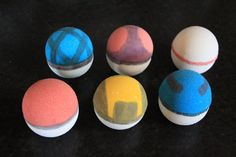 Pokeball Bath Bomb Set by FizzyFairyApothecary on Etsy, $27.00 MIght need to make some for my kids or buy from this lady!  So cute.