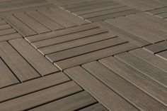 """Premium Resin Deck Tile - Gray / 12""""x12""""x1"""" Easy Deck, Cool Deck, Building Design Plan, Building A Deck, Synthetic Decking, Interlocking Deck Tiles, Deck Cost, Wood Prices, Small Refrigerator"""