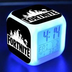 New 2019 Fortnite Alarm Clock Led Night Light Clock Digital Clock Display Boys Bedroom Ideas 8 Year Old, Boys Bedroom Decor, Light Alarm Clock, Alarm Clocks For Kids, Big Boy Bedrooms, Clock Display, Game Room Decor, Gamer Room, Digital Clocks