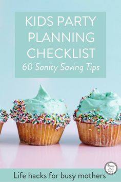 Kids party planning - every parent's favourite thing! Oh wait... We've put together a kids party planning checklist, listing all the things you need to think about when planning a kids party. Everything from initial party ideas, to games, invites, themes and party food planning. What to think about when you're choosing a venue, when to book an entertainer... the aim of the checklist is to help you keep your sanity as you plan and host your child's birthday party! #KidsParty