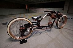 Steampunk Tendencies | Custom bicycle by Pensive Work Cruiser Bicycle, Motorized Bicycle, Cool Bicycles, Cool Bikes, Lowrider Bicycle, Motorised Bike, Power Bike, Push Bikes, Harley Davidson