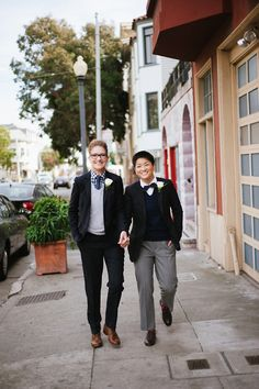 1,000 Brides in Pants. This couple is so cute and their outfits are lovely.