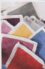 Swatches to customise your  rugs, tapestries or pillows Residence mag